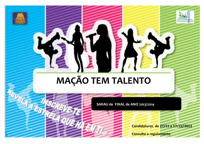 cartaz MAÇAO TALENTO