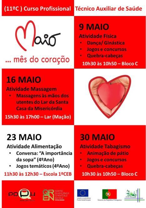 Cartaz - Maio Mês do coração