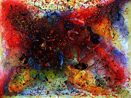 José Barbosa/2008-Caos e Cor IV - Acrilico s_tela-www.galeriaaberta.com