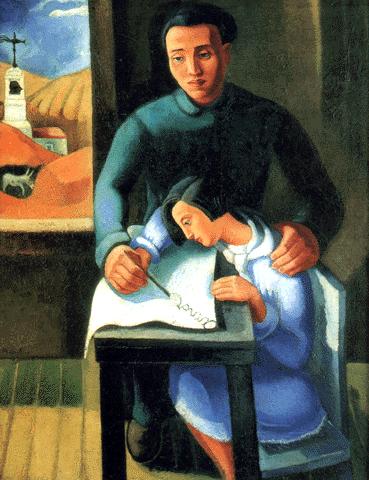 Amor, óleo sobre tela, 1935 - Colecção particular - Galeria 111 - Mário Eloy de Jesus Pereira (1900-1951)